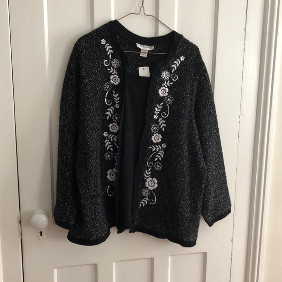 C.D. Daniels Sweaters - Black Embellished Sweater